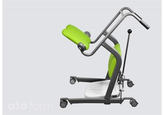 Aufsteh- und Umsetzhilfe Mover, spreizbar, inkl. Kniepolster, gepolsterte Sitzplatten