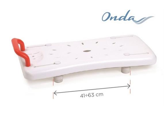 Badebrett kurz 70x35x15cm mit Griff rot, 160kg belastbar