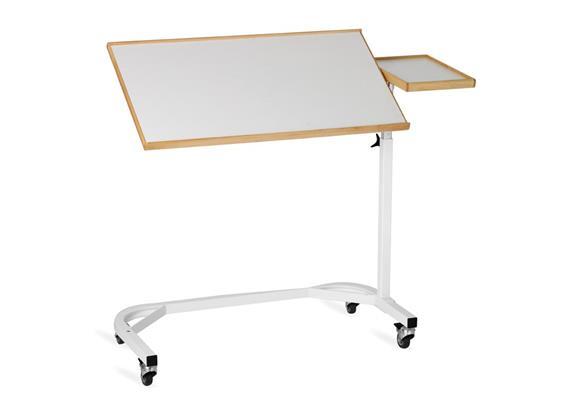 Bett-Tisch weiss 75x41cm+32x21cm