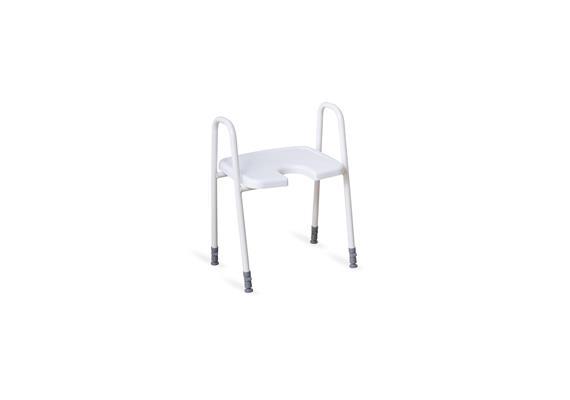 Duschhocker Hygienesitz mit Armlehne 45x40cm, H:45-60cm, 4.9kg