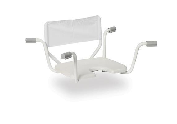 Einhänge-Badewannensitz mit Hygieneausschnitt und Rücken soft, B69-78cm, max 130kg