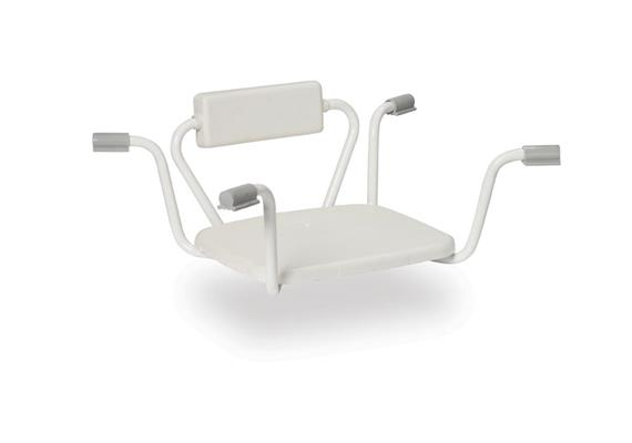 Einhänge-Badewannensitz mit Rücken fest, B69-78cm, max 130kg
