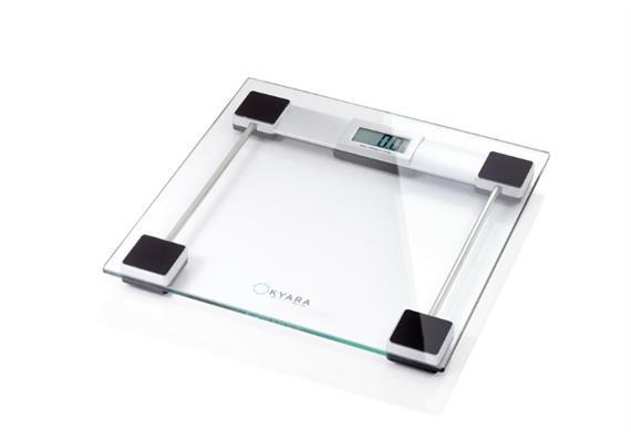 Glaswaage 30x30x3cm, 150kg, LCD-Display