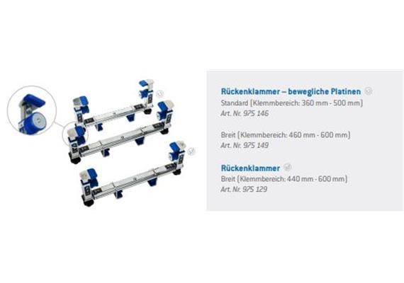 Halterahmen breit statt standard komplett mit Klammern zu Treppenraupe Liftkar PTR
