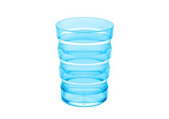 Rillenbecher 200ml blau