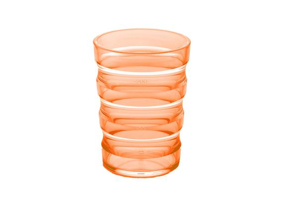 Rillenbecher 200ml orange