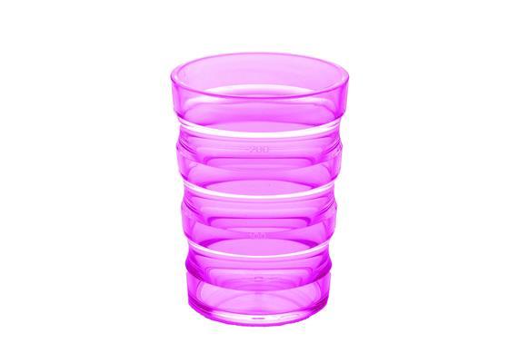 Rillenbecher 200ml pink