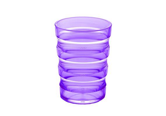 Rillenbecher 200ml violett