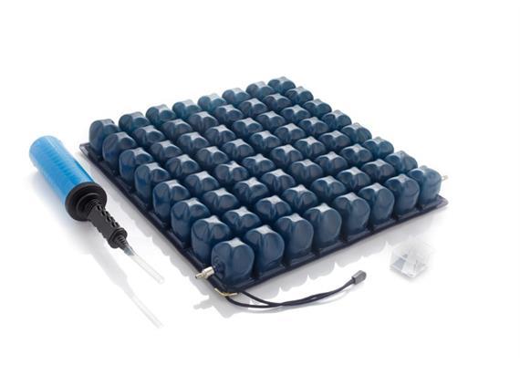 Rollstuhlkissen mit Luftzellen 1 Ventil 40x40x6cm inkl. Pumpe