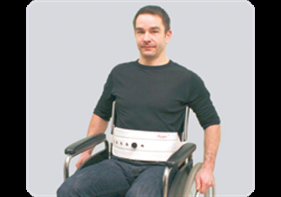 Segufix Sitzgurt Gr. M 80-120cm Höhe 14cm mit Rückenlehnenbefestigungsgurt 700-1500mm