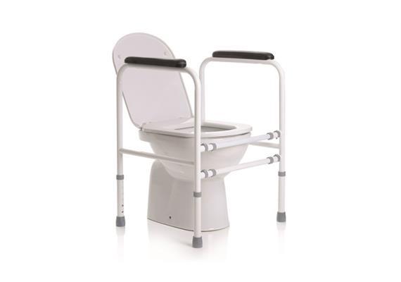 Toilettenstützgestell höhen- und breiteverstellbar