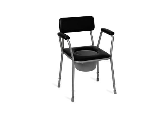 Toilettenstuhl m. Arm- und Rückenlehne H45-55, max 150kg
