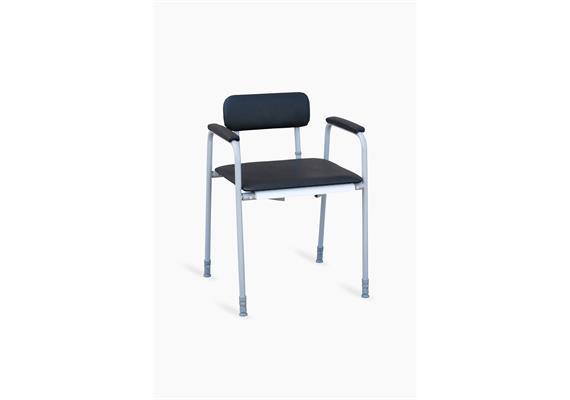 Toilettenstuhl m. Arm- und Rückenlehne XXL H45-60, B55-85cm, max 300kg