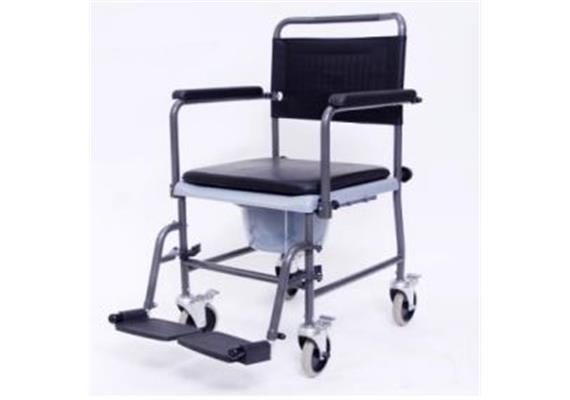 Chaise d'aisance avec roues, accoudoir et dossier, max. Poids de l'utilisateur : 120 kg
