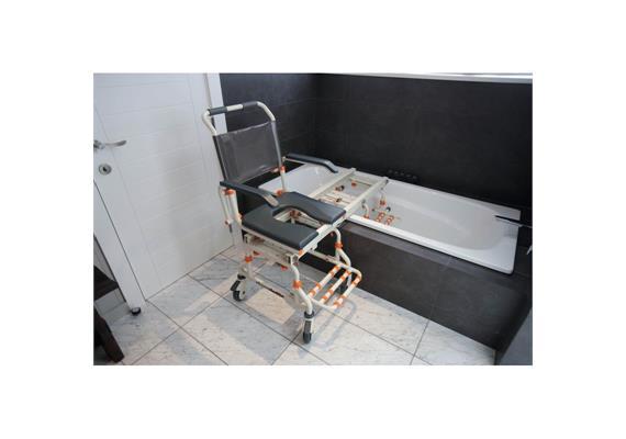 Chaise de bain ShowerBuddy avec fonction d'inclinaison et rail de transfert