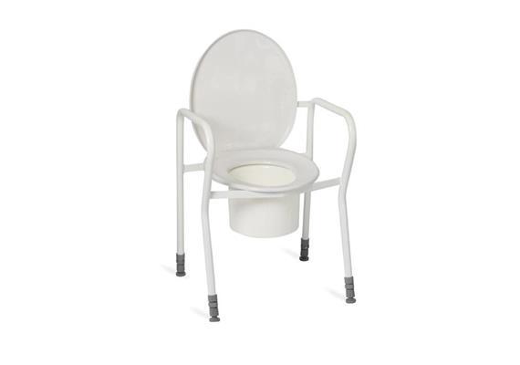 Chaise de toilette avec accoudoirs 45-60cm, max 130kg