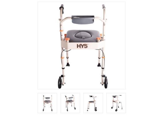 HY5 chaise de douche/ toilette, réhausseur de siège de toilette, walker, cadre de marche