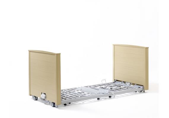 Lit de soins ultra bas SuperLow 10-70cm avec potence de lit en 2-pièces