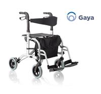 Rollator/chaise roulant Gaya - double function