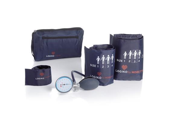 Sphygmomanomètre-kit avec 3 brassards sans latex