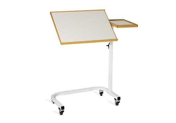 Table de lit blanc 54x41cm+32x21cm