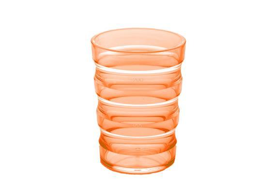 Verre rainure 200ml orange